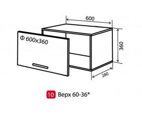 Модульная кухня maXima верх 10 в 60x36  витрина (Vip-мастер)
