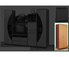 Модульная Гостиная Ольвия Шкаф 2Д (СОКМЕ)