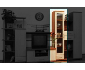 Модульная Система Дебют Пенал витрина 40-1Ш (СОКМЕ)