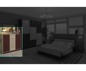 Модульная Спальня Комфорт Комод 120 (СОКМЕ)