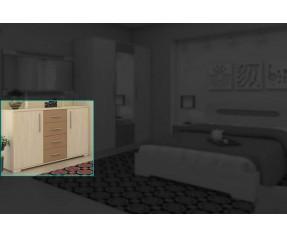 Модульная Спальня Сандра Комод 125 (СОКМЕ)
