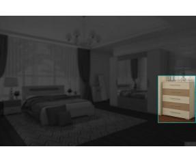 Модульная Спальня Сандра Комод 75 (СОКМЕ)
